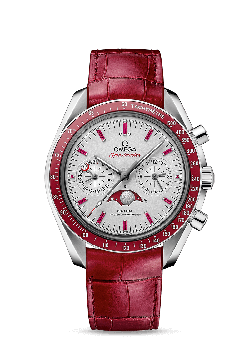 Speedmaster Moonwatch Omega Co-Axial Master Chronometer Moonphase Chronograph 44.25 mm - 最小管理単位 304.93.44.52.99.002 Watch presentation