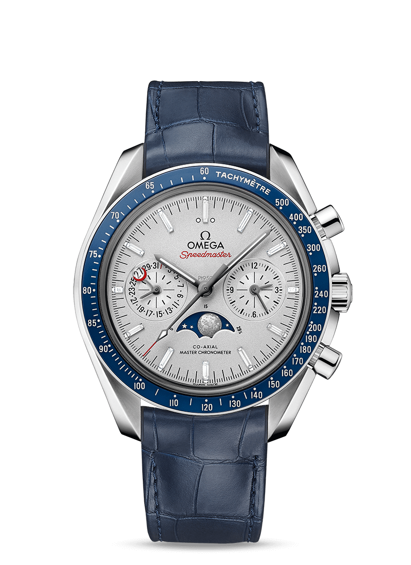 Speedmaster Moonwatch Omega Co-Axial Master Chronometer Moonphase Chronograph 44.25 mm - 最小管理単位 304.93.44.52.99.004 Watch presentation