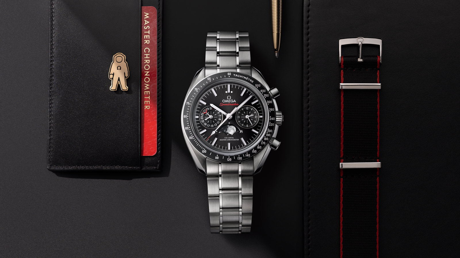Speedmaster ムーンウォッチ Moonwatch Omega Co‑Axial Master Chronometer Moonphase Chronograph 44.25 mm ウォッチ - 304.30.44.52.01.001