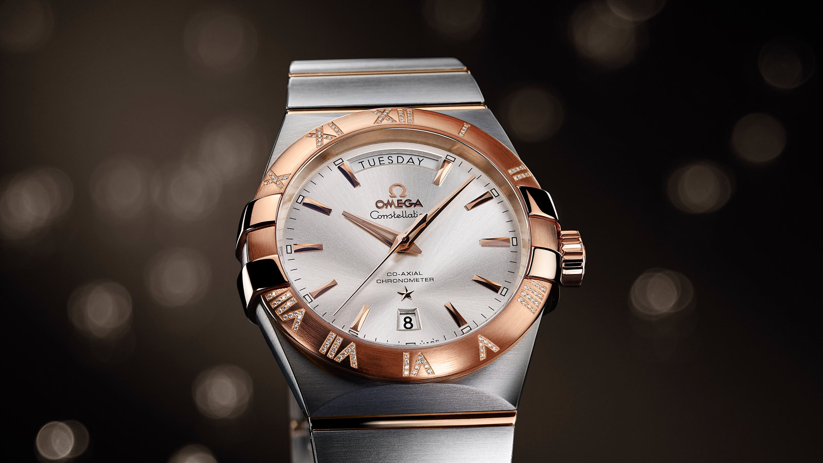 Constellation コンステレーション Constellation Omega Co‑Axial Day‑Date 38mm - 123.25.38.22.02.001 - ビュー 1