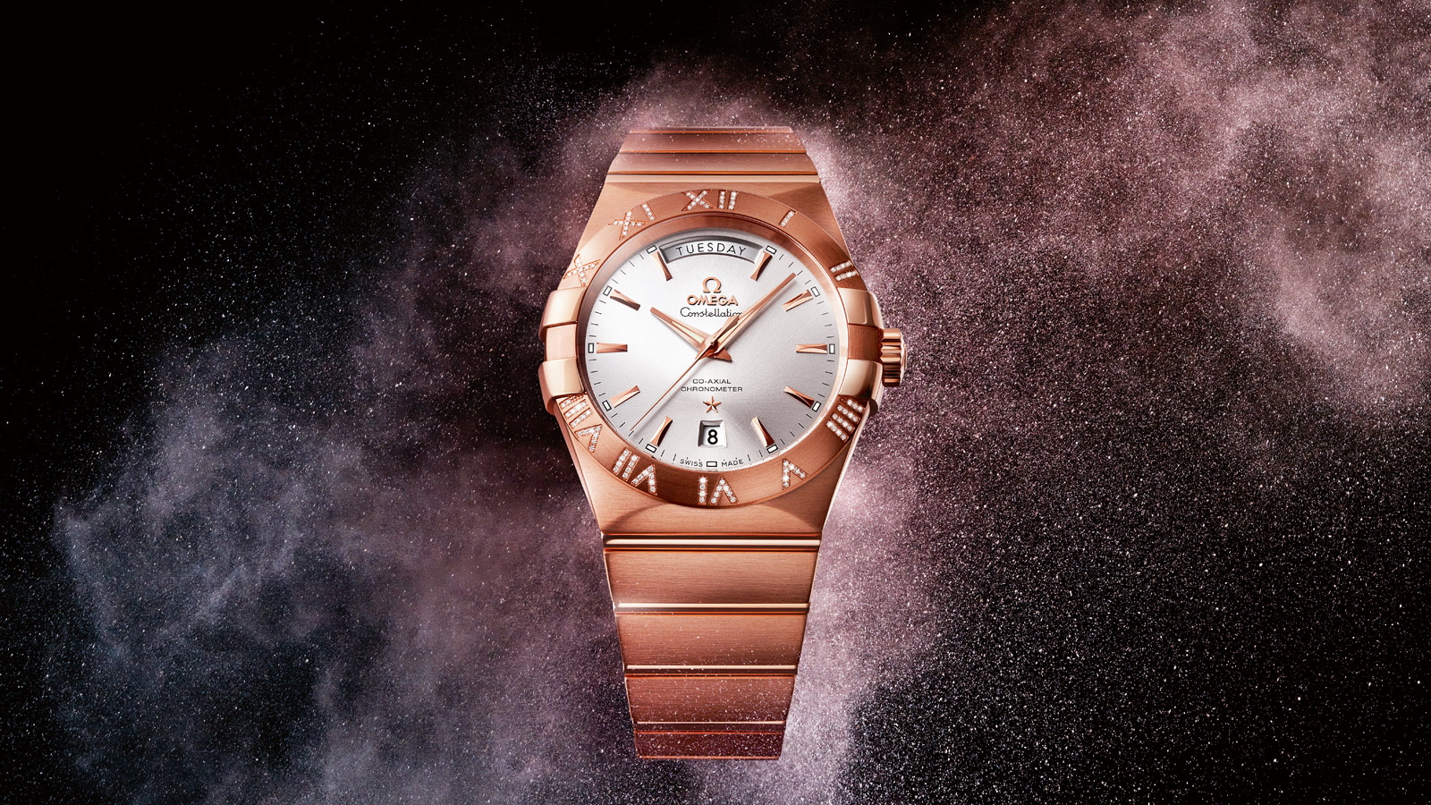 Constellation コンステレーション Constellation Omega Co‑Axial Day‑Date 38mm - 123.55.38.22.02.001 - ビュー 2