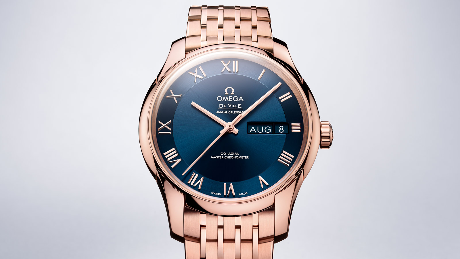 De Ville アワービジョン Hour Vision Omega Co‑Axial Master Chronometer Annual Calendar 41mm - 433.50.41.22.03.001 - ビュー 1