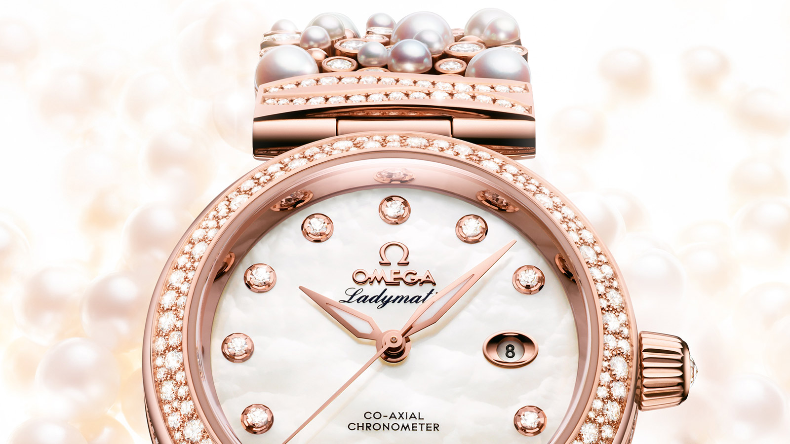 De Ville レディマティック Ladymatic Omega Co‑Axial 34 mm - 425.65.34.20.55.008 - ビュー 1