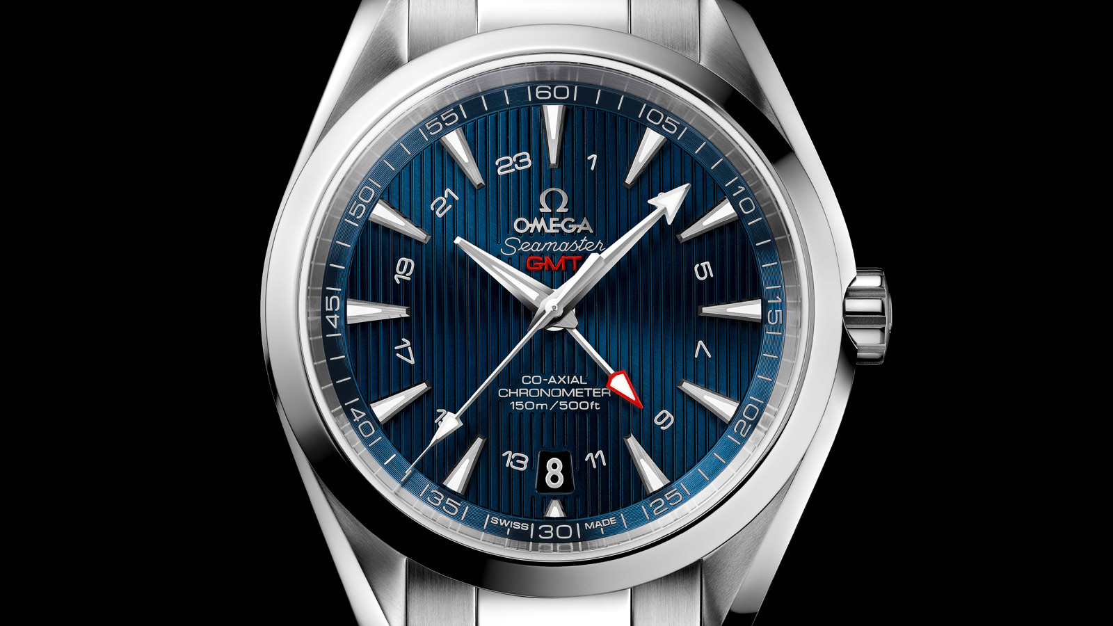 Seamaster アクアテラ 150M Aqua Terra 150M Omega Co‑Axial GMT 43 mm - 231.10.43.22.03.001 - ビュー 1