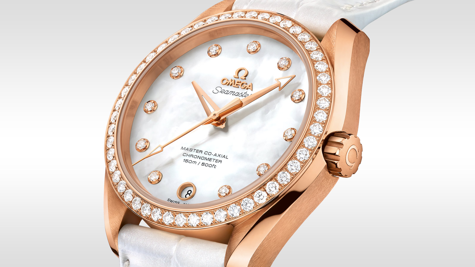 Seamaster アクアテラ 150M Aqua Terra 150M Omega Master Co‑Axial Ladies' 38.5 mm - 231.58.39.21.55.001 - ビュー 2