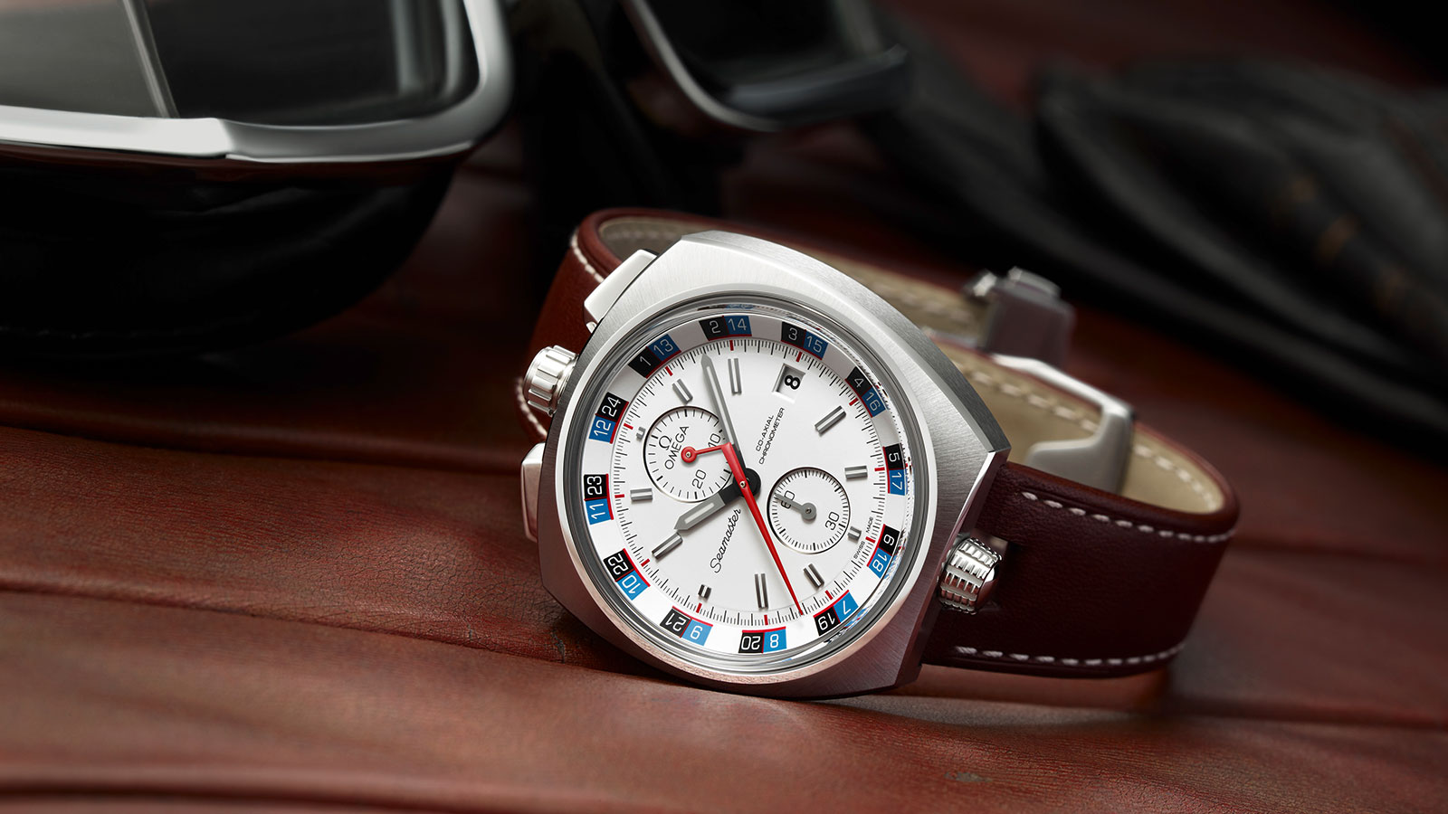 Seamaster ブルヘッド Bullhead Co‑Axial Chronograph 43 x 43 mm ウォッチ - 225.12.43.50.04.001