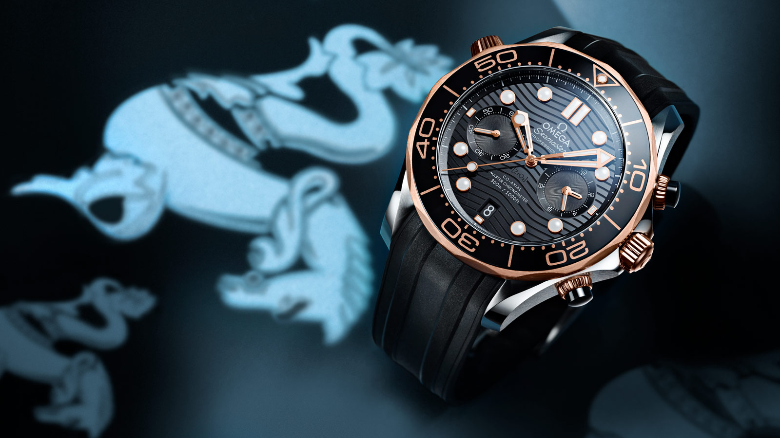 Seamaster ダイバー 300M Diver 300M Omega Co‑Axial Master Chronometer Chronograph 44 mm - 210.22.44.51.01.001 - ビュー 1