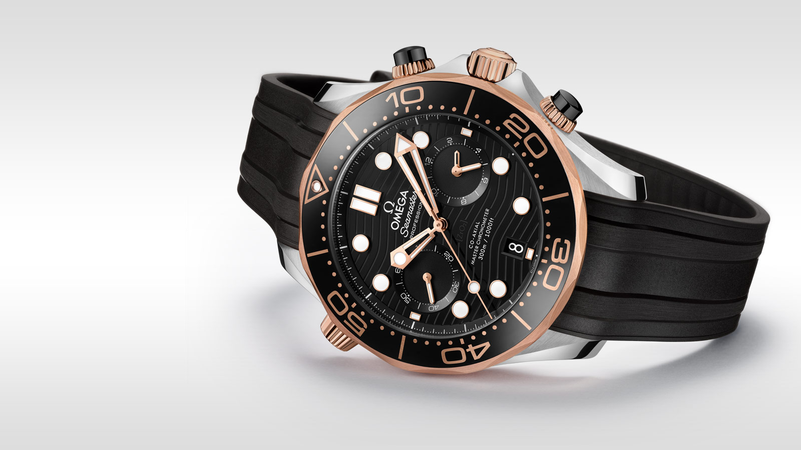 Seamaster ダイバー 300M Diver 300M Omega Co‑Axial Master Chronometer Chronograph 44 mm - 210.22.44.51.01.001 - ビュー 2