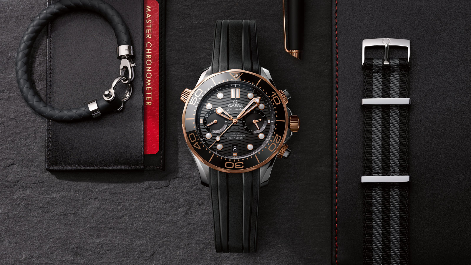 Seamaster ダイバー 300M Diver 300M Omega Co‑Axial Master Chronometer Chronograph 44 mm ウォッチ - 210.22.44.51.01.001