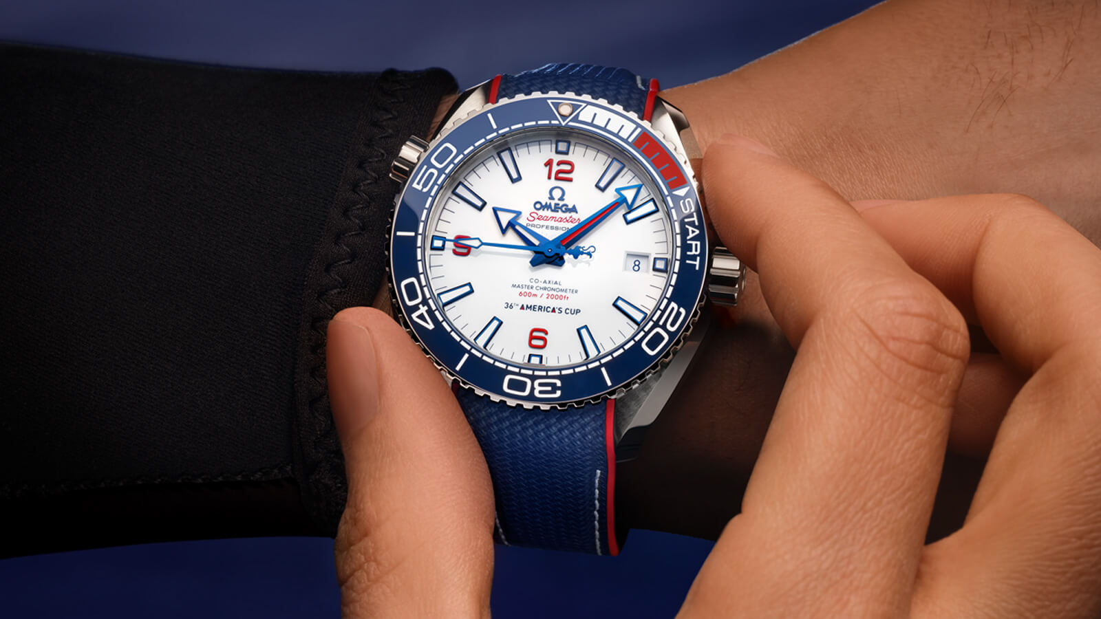 Seamaster プラネットオーシャン Planet Ocean 600M Omega Co‑Axial Master Chronometer 43.5 mm - 215.32.43.21.04.001 - ビュー 1