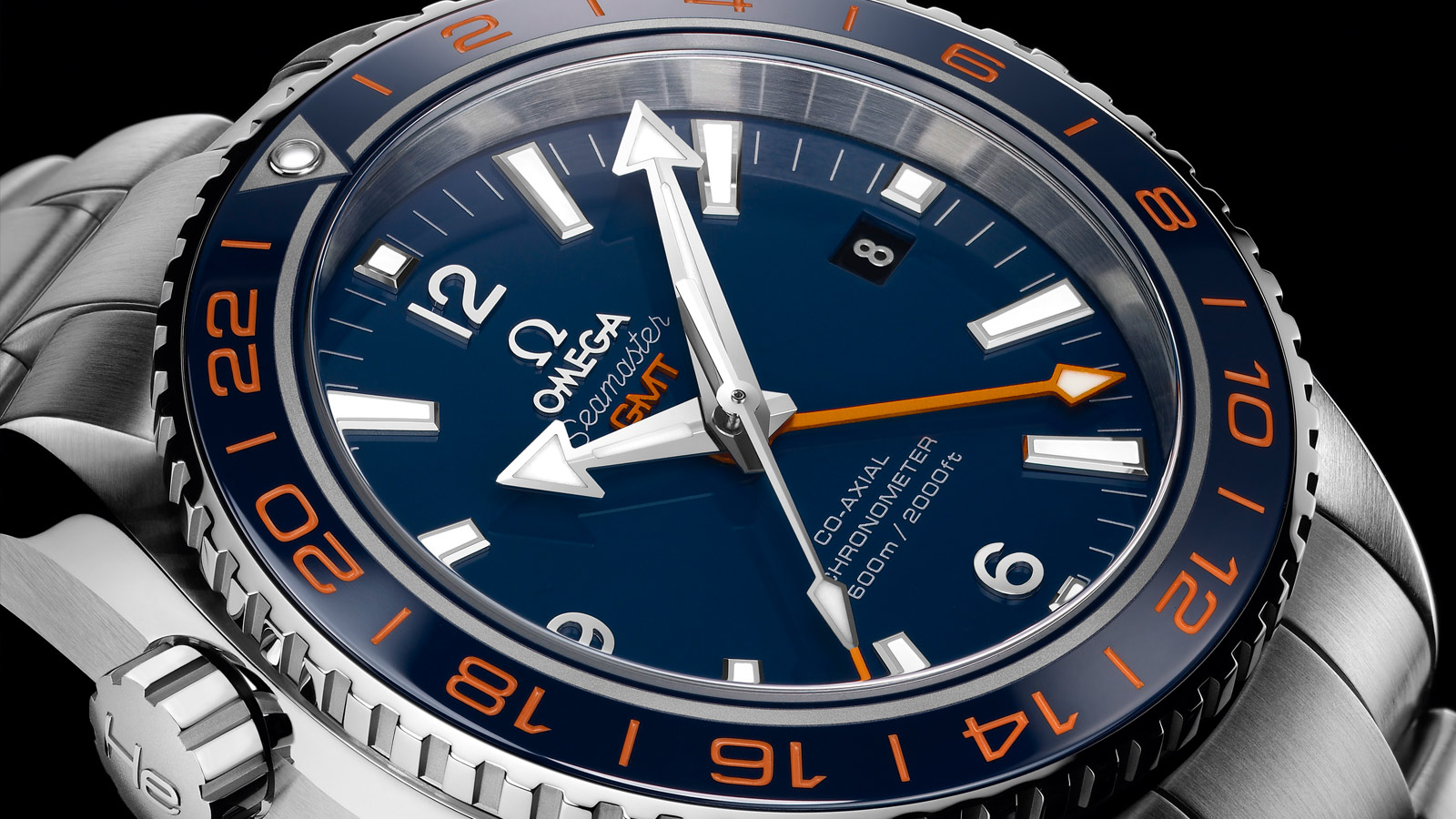Seamaster プラネットオーシャン Planet Ocean 600M Omega Co‑axial GMT 43.5 mm - 232.30.44.22.03.001 - ビュー 1