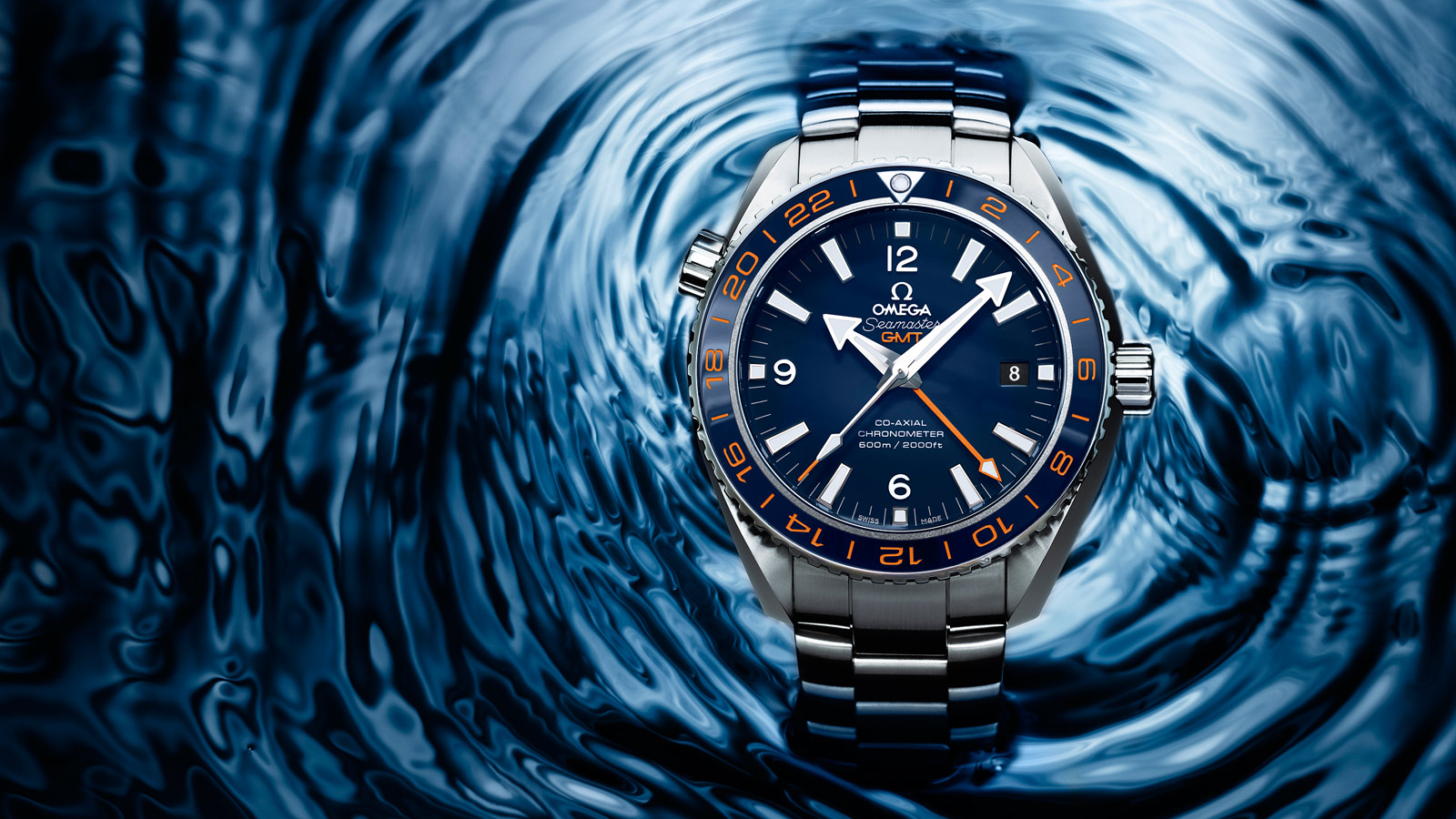 Seamaster プラネットオーシャン Planet Ocean 600M Omega Co‑axial GMT 43.5 mm - 232.30.44.22.03.001 - ビュー 3