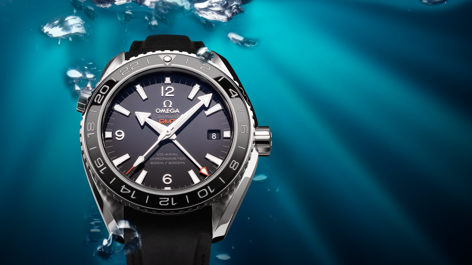 Seamaster プラネットオーシャン Planet Ocean 600M Omega Co‑axial GMT 43.5 mm - 232.32.44.22.01.001 - ビュー 1