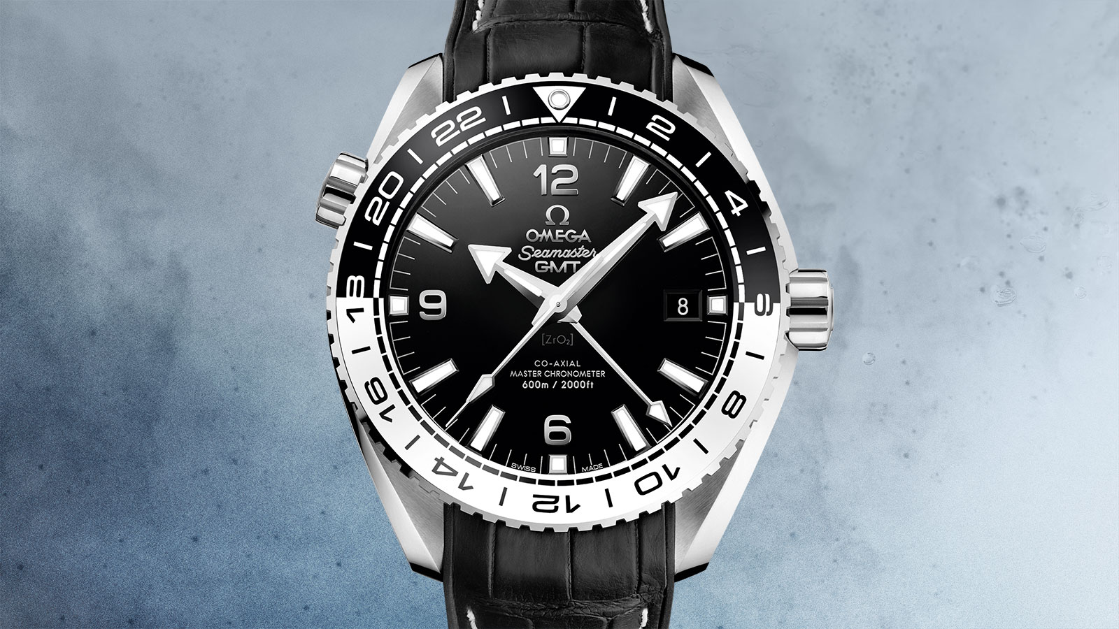 Seamaster プラネットオーシャン Planet Ocean 600M Omega Co‑Axial Master Chronometer GMT 43.5 mm ウォッチ - 215.33.44.22.01.001