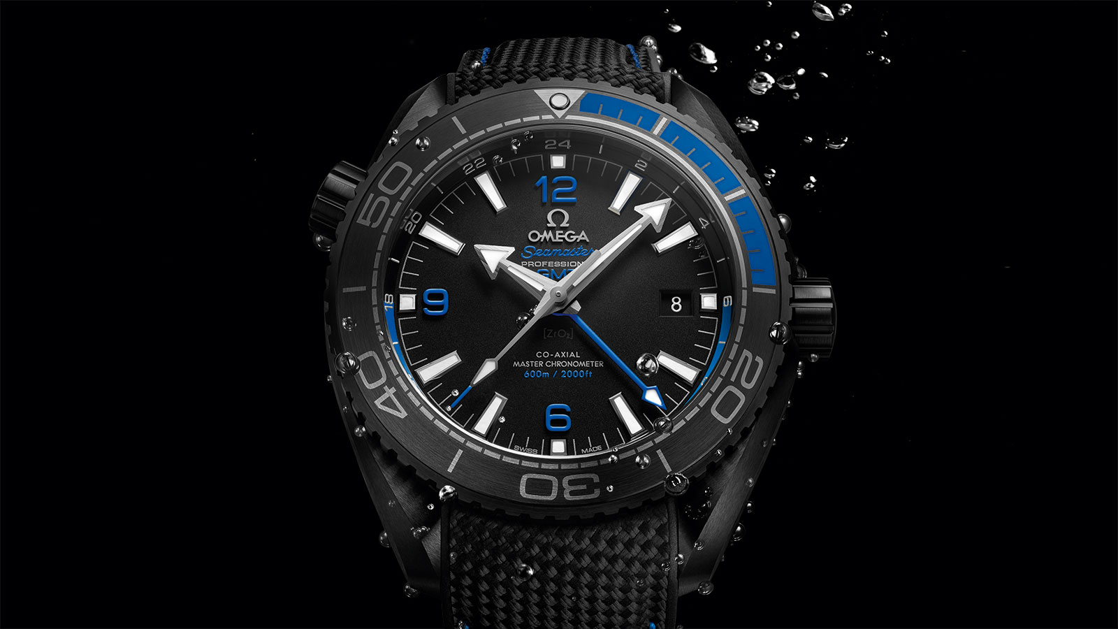 Seamaster プラネットオーシャン Planet Ocean 600M Omega Co‑Axial Master Chronometer GMT 45.5 mm ウォッチ - 215.92.46.22.01.002