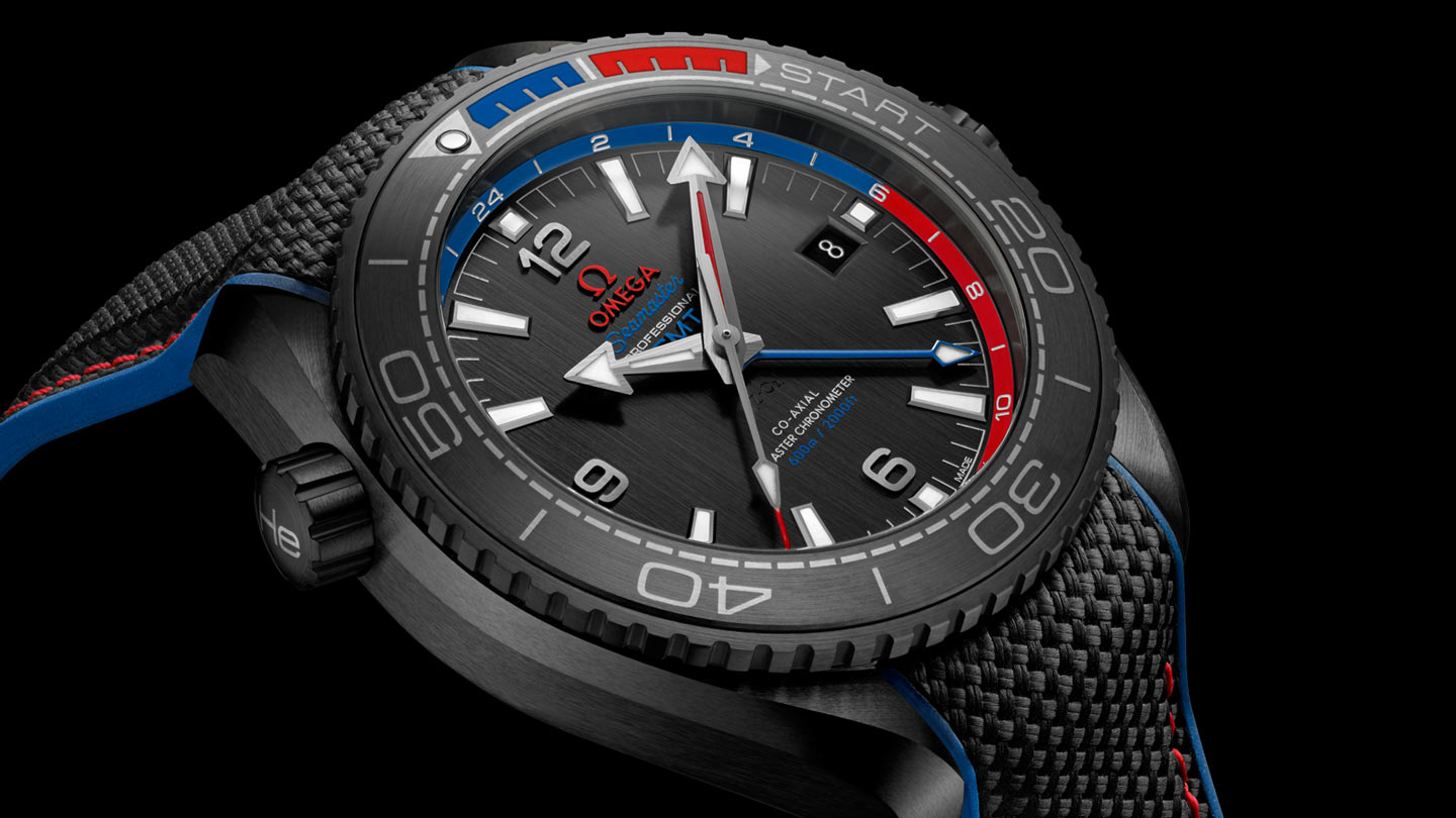 Seamaster プラネットオーシャン Planet Ocean 600M Omega Co‑Axial Master Chronometer GMT 45.5 mm - 215.92.46.22.01.004 - ビュー 4