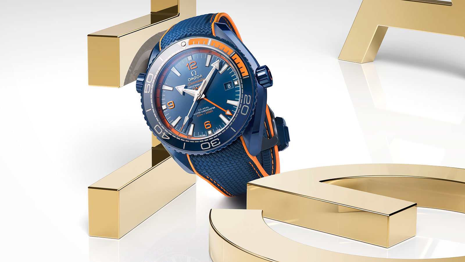 Seamaster プラネットオーシャン Planet Ocean 600M Omega Co‑Axial Master Chronometer GMT 45.5 mm ウォッチ - 215.92.46.22.03.001