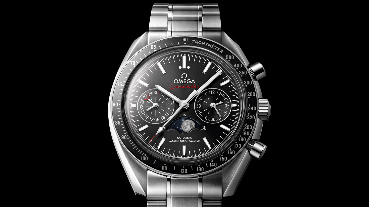 Speedmaster ムーンウォッチ Moonwatch Omega Co‑Axial Master Chronometer Moonphase Chronograph 44.25 mm - 304.30.44.52.01.001 - ビュー 1