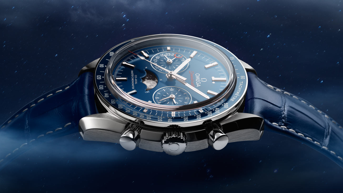 Speedmaster ムーンウォッチ Moonwatch Omega Co‑Axial Master Chronometer Moonphase Chronograph 44.25 mm - 304.33.44.52.03.001 - ビュー 1
