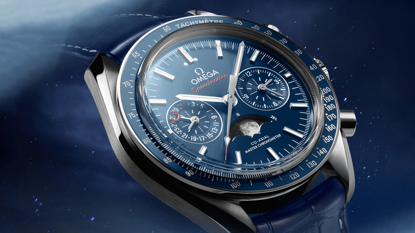 Speedmaster ムーンウォッチ Moonwatch Omega Co‑Axial Master Chronometer Moonphase Chronograph 44.25 mm - 304.33.44.52.03.001 - ビュー 2