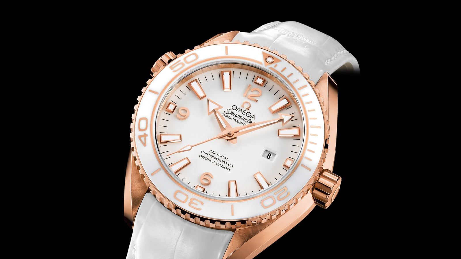 THE OMEGA PLANET OCEAN CERAGOLD™ WHITE PLANET ST. MORITZ